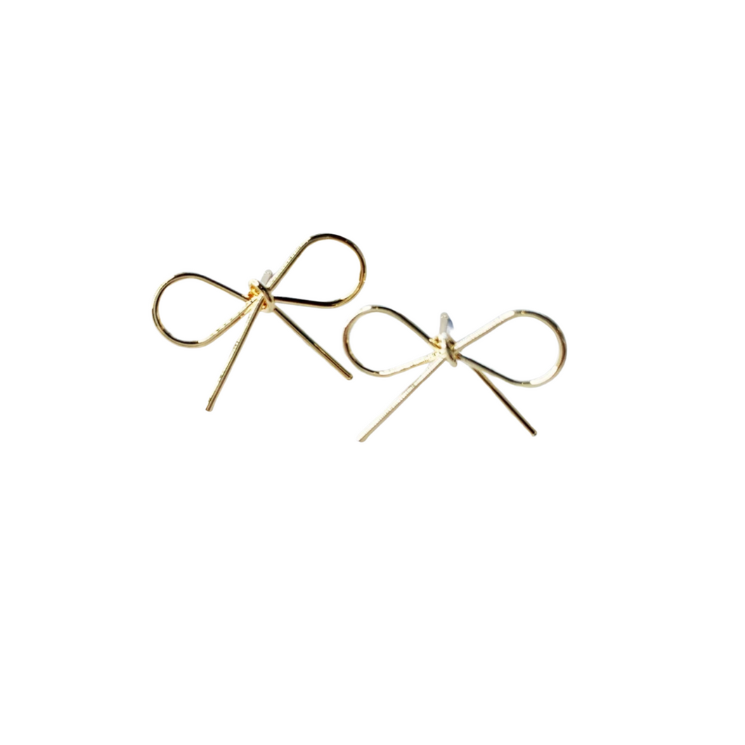 Gold Bow Stud