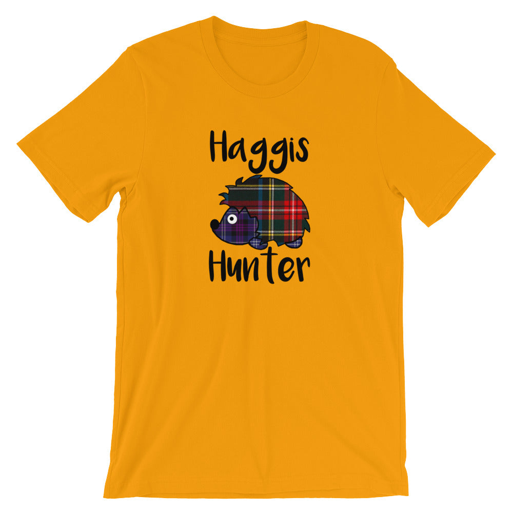 Haggis Hunter Scottish Legend Short-Sleeve Unisex T-Shirt