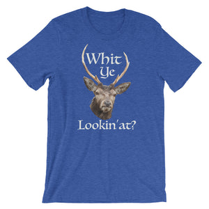 Whit Ye Lookin At? Scotland Inspired Short-Sleeve Unisex T-Shirt