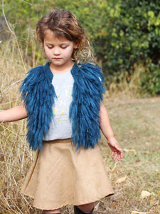 Sleeveless Fringed Knitted Sweater Vest Top for Babies Toddlers Girls