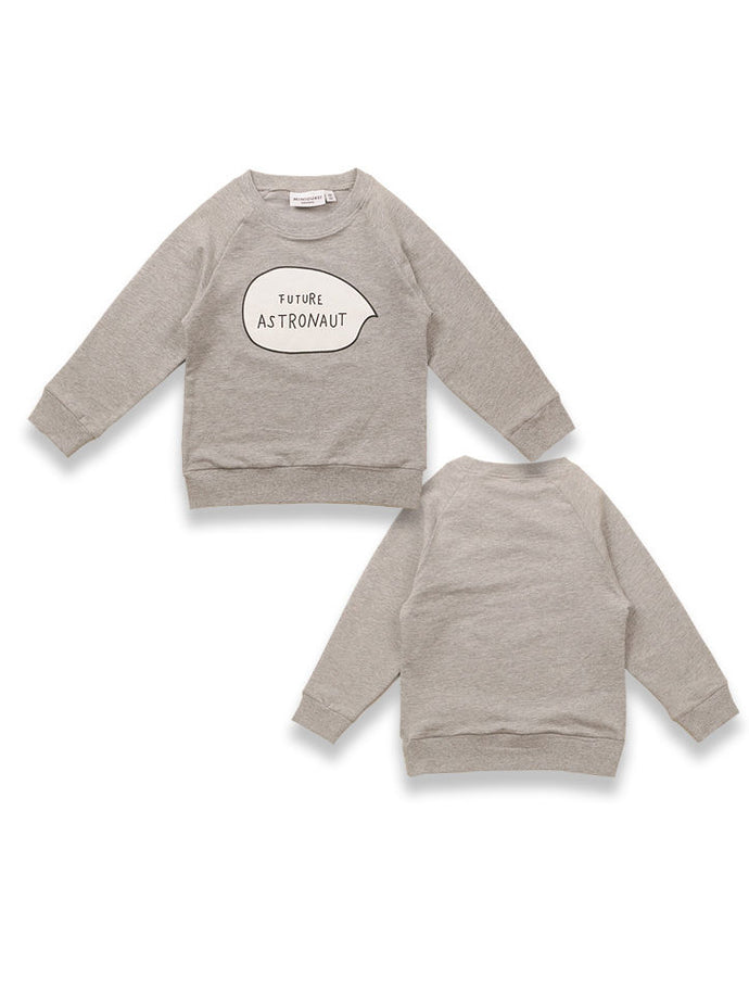 Baby Kids Future Astronaut Letters Print Jumper Long-sleeved