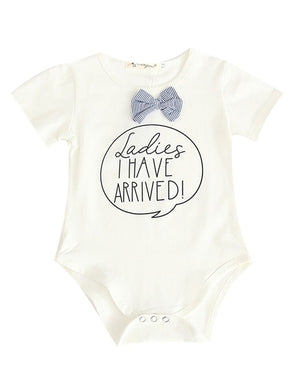 Cute Summer LADIES I HAVE ARRIVED!Letters Print Baby Unisex Bodysuit