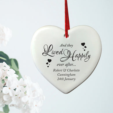 Happily Ever After Hanging Heart Plaque