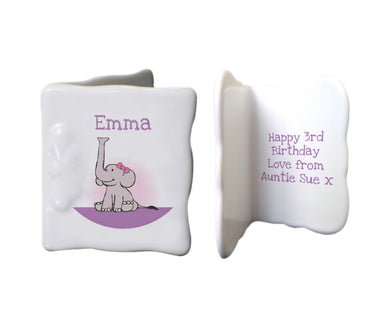Purple Elephant Message card
