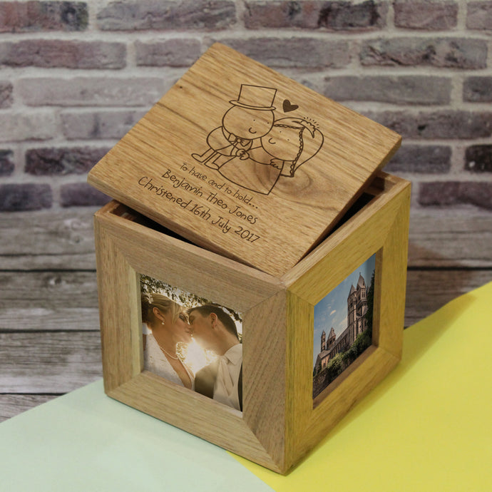 Chilli and Bubbles To Have and To Hold Wooden Photo Cube