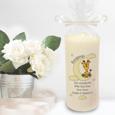 Sweet Dreams Giraffe Pillar Candle