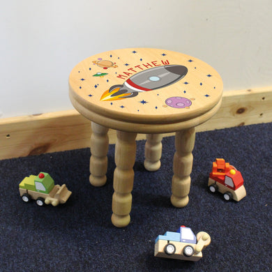 Rocket Wooden Stool, wooden table, preschool, playmobil, wooden toys, toddler, ikea, idea, rocket, spaceship, children bedroom, toddler bedroom, infant bedroom