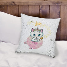 Nina Fairy Sequin Personalised Cushion