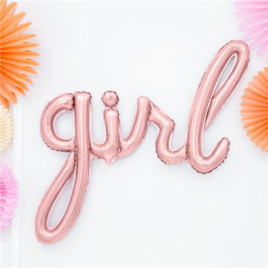 Rose Gold Girl Phrase Balloon - 30