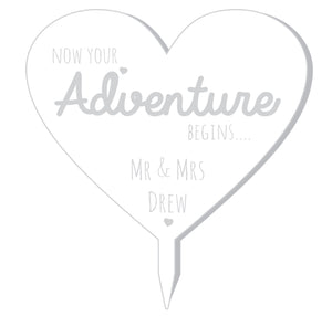 Adventure Heart Cake Topper