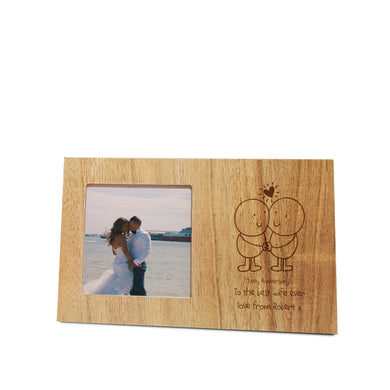 Chilli and Bubbles Anniversary wooden panel photo frame
