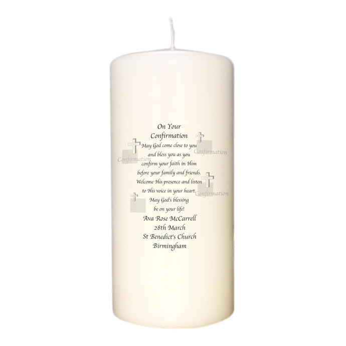 First Confirmation Blessing Candle