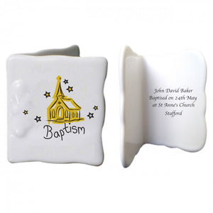Church Baptism Bone China Message Card