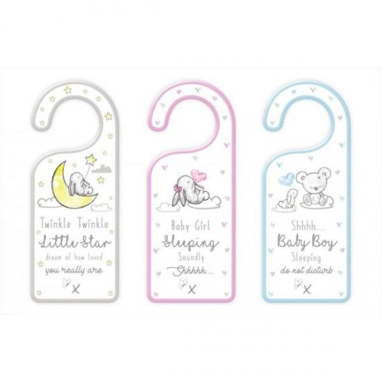 baby door hanger, baby bedroom, kids bedroom, children bedroom, night time gifts, night time baby gifts