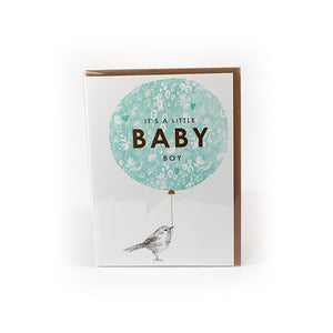 Newborn baby card, baby boy cards, congratulation new baby, trendy cards, modern cards, new baby cards, baby cards, personalised cards, boy cards, tooting card shop, tooting gift shop, london card shop, london gift shop, louise tiler cards