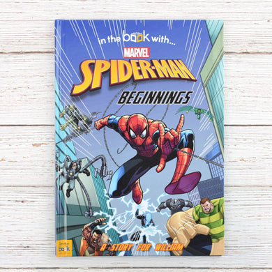 Spiderman Beginnings, marvel gifts, christmas gifts, disney books, personalised books, personalised gifts, educational books, story time, reading books, baby books, preschool books, london shops, tooting shops, gifts for babies, baby gifts, newborn gifts, gifts for kids, gifts for children, avenger gifts, gifts sets, marvel toys, spiderman book, spiderman toys, spiderman gifts