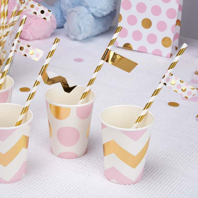 Pattern Works Pink Chevron Straw Flags, Party supplier, party decor, corporate party supplier, London Party supplier, Christening Party, Wandsworth Party Supplier, ginger ray, party delights, USA Party Supplier, EU Party Supplier, baby shower supplier