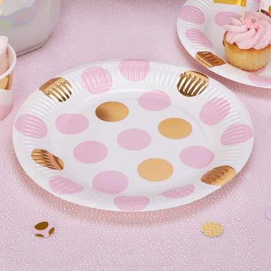 Pattern Works Pink Polka Dot Plates - 23cmParty supplier, party decor, corporate party supplier, London Party supplier, Christening Party, Wandsworth Party Supplier, ginger ray, party delights, USA Party Supplier, EU Party Supplier, babyshower supplier