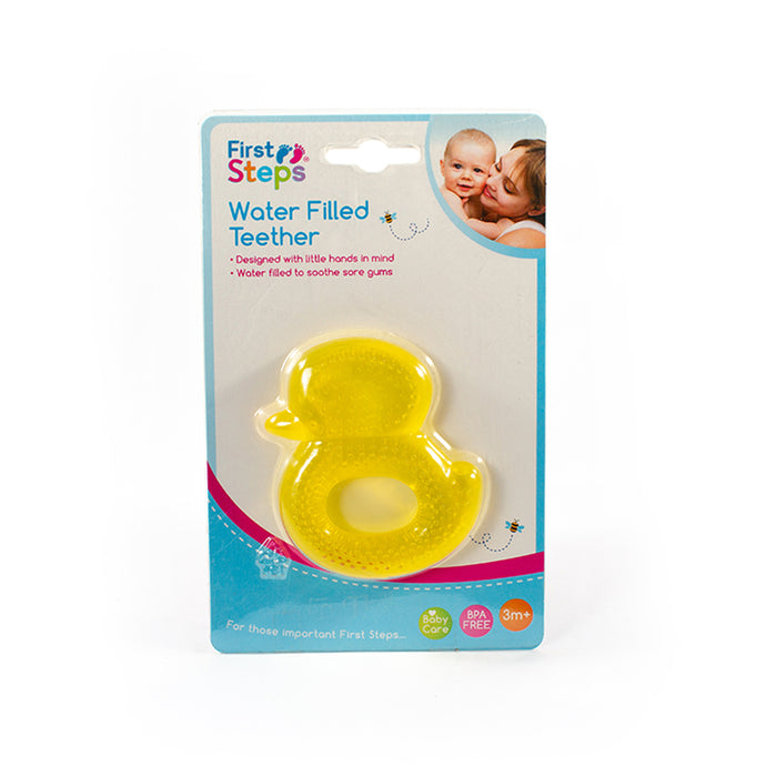 First Steps Water Filled Teether Rattle - 3 months+