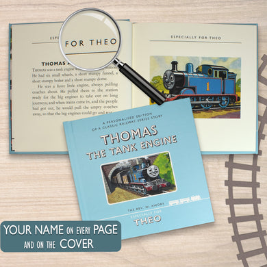 Thomas the Tank Engine, thomas and friends, thomas and friends gifts, thomas the tank engine gifts, train gifts, educational books, story time, books for boys, books for children, personalised gifts, personalised books, thomas the tank engine books, birthday gifts