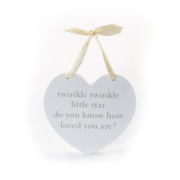 Twinkle Little Star hanging plaque
