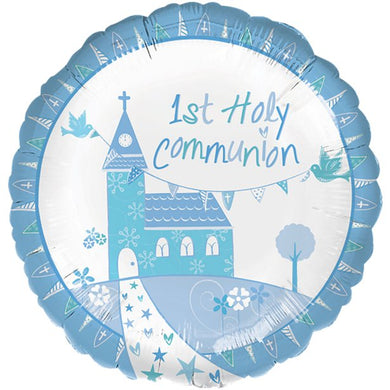 First Holy Communion Blue Balloon - 18