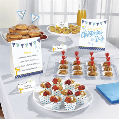 Christening Day Blue Buffet Kit ,Party supplier, party decor, corporate party supplier, London Party supplier, Christening Party, Wandsworth Party Supplier, ginger ray, party delights, USA Party Supplier, EU Party Supplier