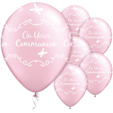 First Holy Communion Pink Butterflies Balloons - 11