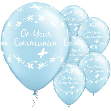 First Holy Communion Blue Butterflies Balloons - 11