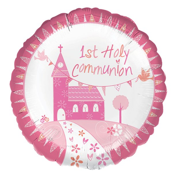 First Holy Communion Pink Balloon - 18