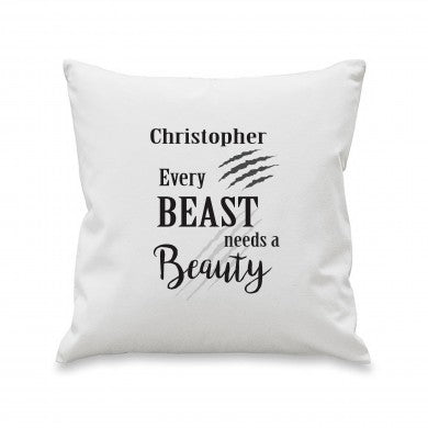 Beast Cushion Cover, wedding shop tooting, wedding shop online, wedding gifts, beauty and the beast gift, personalised gifts, personalised cushions, tooting gift shop, london gift shop, london wedding shop, wandsworth gift shop, surrey gift shop, essex gift shop, midlands gift shop, uk gift shop, british gift shop, wimbledon gift shop, merton gift shop, melinas gift shop, regalo london, disney gifts, personalised cushions, new home gifts
