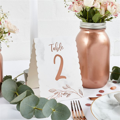 Rose gold table number, ginger ray, not on the high street, wedding decorations, wedding shop tooting, tooting gift shop, party shop, party supplier, wedding decor, table decorations, london gift shop, party pieces, party shop, usa party supplies, europe party supplies, mauritius party supplies
