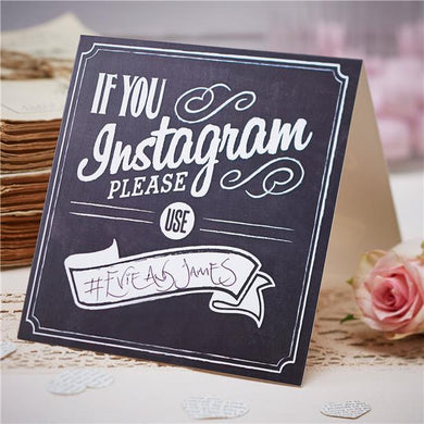 A Vintage Affair 'If You Instagram' Wedding Table Signs, ginger ray, not on the high street, wedding decorations, wedding shop tooting, tooting gift shop, party shop, party supplier, wedding decor, table decorations, london gift shop, party pieces, party shop, usa party supplies, europe party supplies, mauritius party supplies