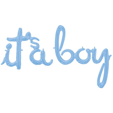 Baby Blue It's A Boy Phrase Balloon - 56