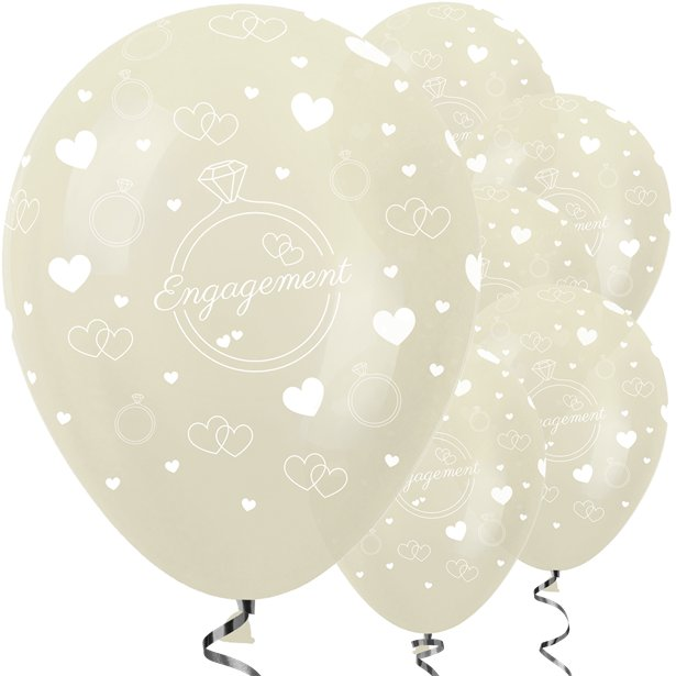 Ivory Engagement Balloons - 12