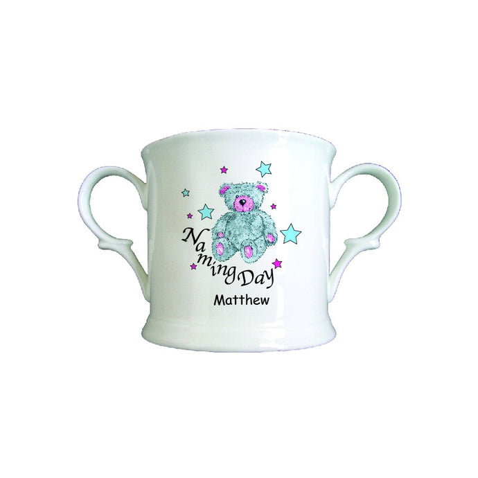 Teddy & Stars Blue Naming Day China Loving Cup