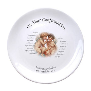 "Cherubs Holy Confirmation 8"" Coupe Plate"