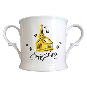 Church Christening Bone China Loving Cup