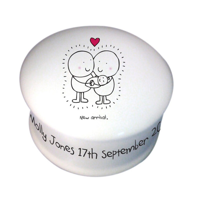 Chilli & Bubble's New Baby Trinket Box