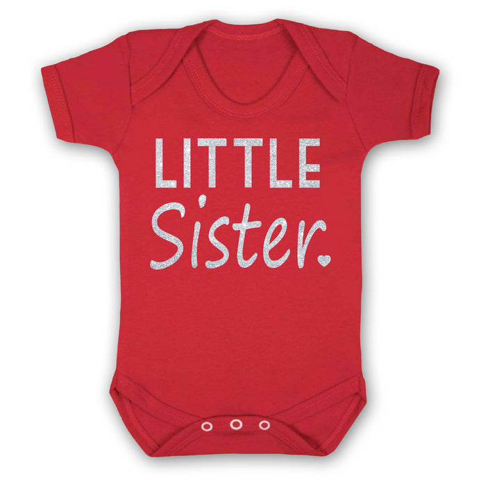 Little Sister top, Personalised baby grows, personalised babyvest, family matching outfits, sibling outfits, new born baby clothes, newborn gifts, melinas gift shop, tooting baby shop, tooting gift shop, london baby shop, london baby shop, new born gifts, south london gift shops, wandsworth gift shops