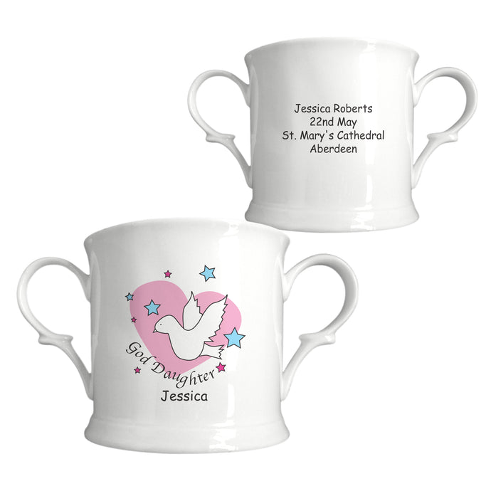 Dove & Hearts Pink Goddaughter Bone China Loving Cup