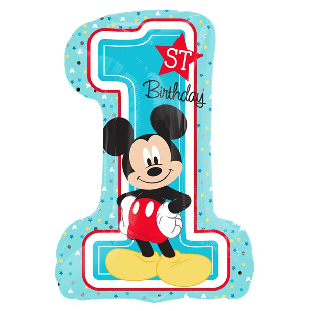 Mickey Mouse 1st Birthday SuperShape Balloon - Foil 28