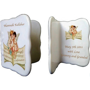Cherubs Confirmation Bone China Message Card