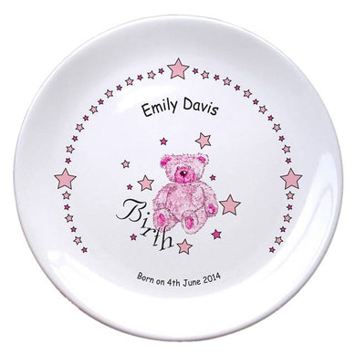 Teddy & Stars Pink Birth 8