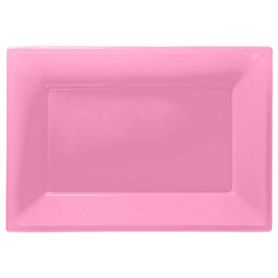 Baby Pink Serving Platters - 23cm x 32cm Plastic , holy communion, personalised gifts, table decorations, pink theme, london gift shop, religious gifts, tooting gift shop, tooting market, baptism gifts, chistening gifts, confirmation gifts, baby shower gifts, balloons decor