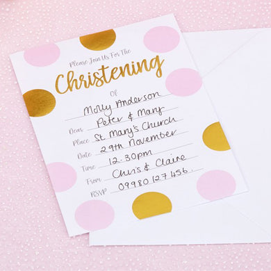 Pattern Works Pink Christening Party Invitations,Party supplier, party decor, corporate party supplier, London Party supplier, Christening Party, Wandsworth Party Supplier, ginger ray, party delights, USA Party Supplier, EU Party Supplier, baby shower supplier