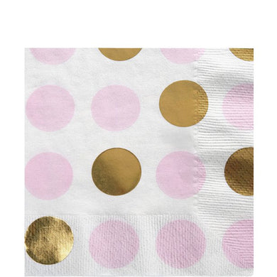 Pattern Works Pink Polka Dot Paper Napkins - 33cm, Party supplier, party decor, corporate party supplier, London Party supplier, Christening Party, Wandsworth Party Supplier, ginger ray, party delights, USA Party Supplier, EU Party Supplier, baby shower supplier