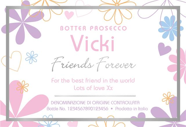 Friends Forever Personalised Prosecco