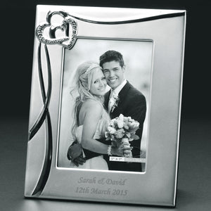 Sparkling Hearts 8x10 Photo Frame