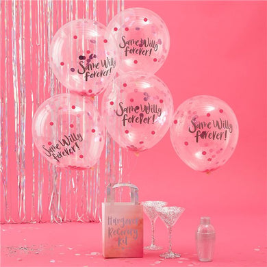 Same Willy Forever Confetti Balloons - 12